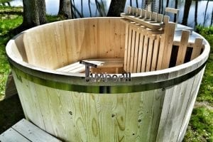 Wooden hot tub basic model made of siberian spruce larch 9