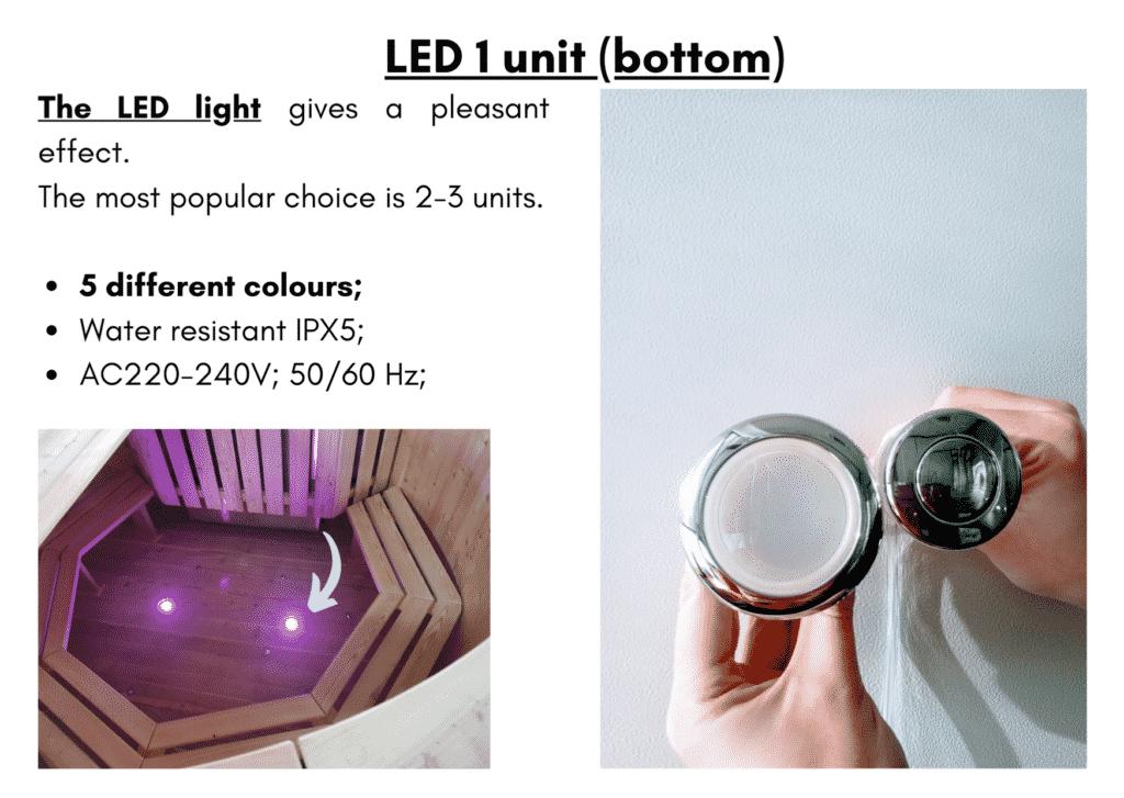 Wooden hot tub cheap model LED 1 unit bottom5 1