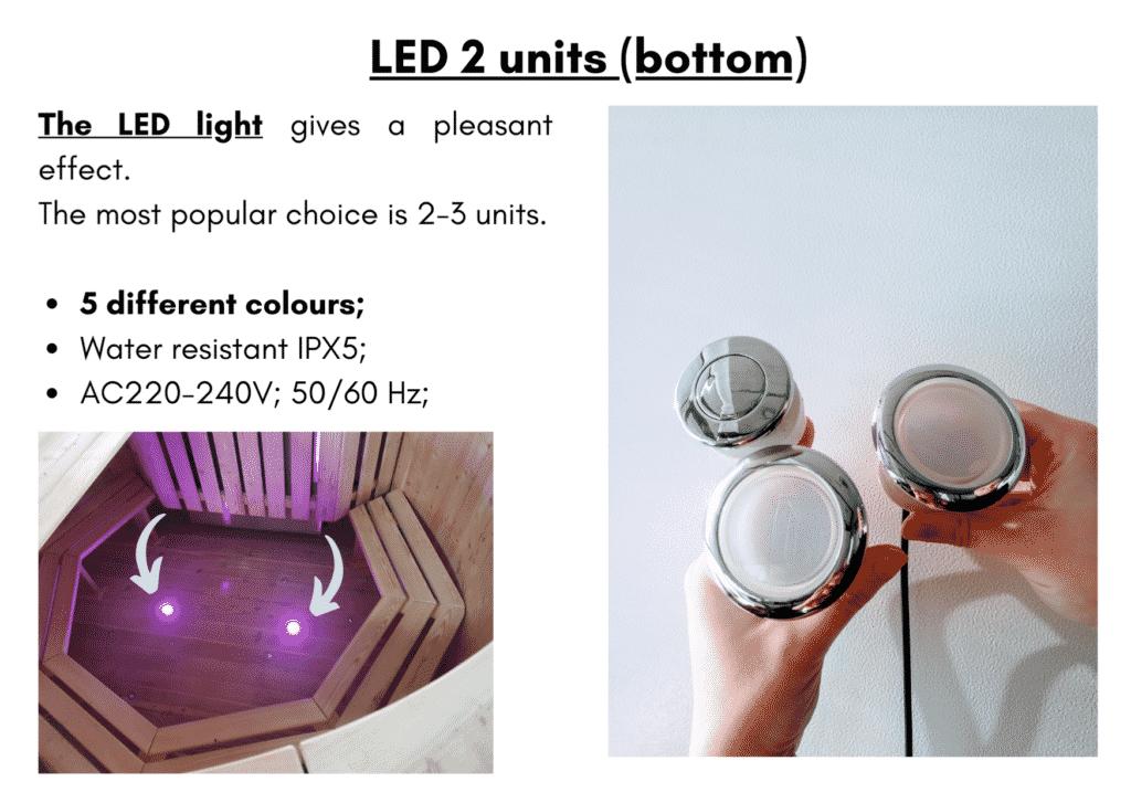 Wooden hot tub cheap model LED 2 units bottom6 1