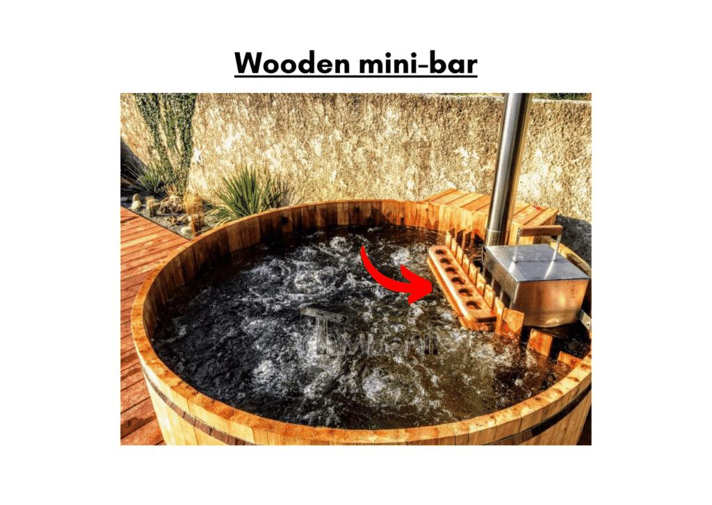 Wooden hot tub cheap model Wooden mini bar 9 1