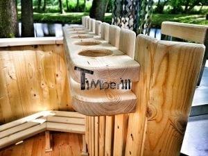 Wooden hot tub for garden 12