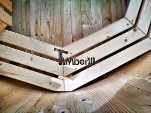 Wooden hot tub for garden 16