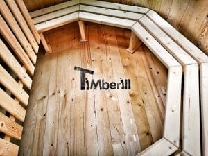 Wooden hot tub for garden 17