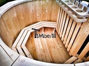 Wooden hot tub for garden 8