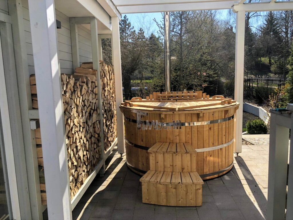 Wooden hot tub larch flat pack 1 scaled