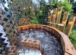 Wooden hot tub possible with jets Deluxe thermowood 3