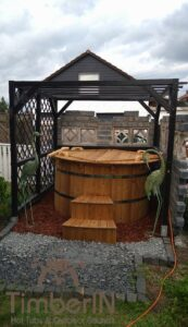 Wooden hot tub possible with jets Deluxe thermowood 4