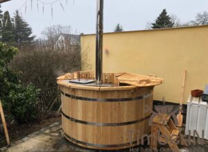Wooden hot tub spruce flat pack deluxe 2