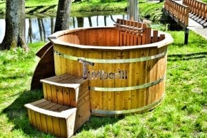Wooden hot tub thermowood deluxe spa model 15