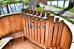 Wooden hot tub thermowood deluxe spa model 21