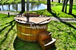 Wooden hot tub thermowood deluxe spa model 26