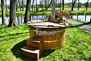 Wooden hot tub thermowood deluxe spa model 28