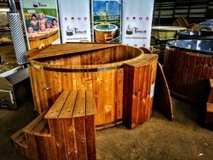 wooden hot tub thermo wood basic air bubble and LED 11