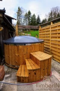 Electric wooden hot tub 1 1