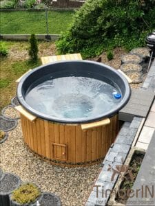 Electric wooden hot tub 1
