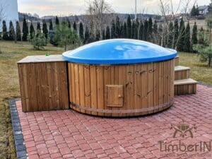 Electric wooden hot tub 3
