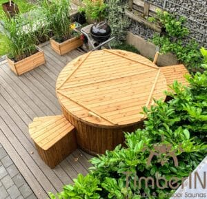 Electric wooden hot tub 4 1