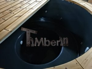 Electricity Heated Fiberglass Hot Tub With Thermowood Decoration 4