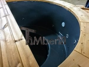 Electricity Heated Fiberglass Hot Tub With Thermowood Decoration 5