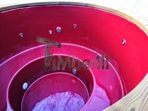Electricity heated fiberglass hot tub with thermowood decoration 10