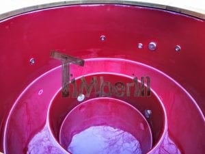 Electricity heated fiberglass hot tub with thermowood decoration 9