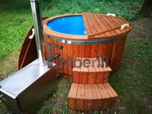 Fiberglass outdoor spa with external burner 13