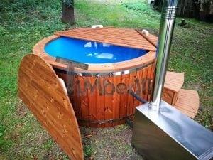 Fiberglass outdoor spa with external burner 15