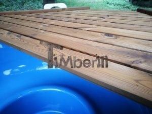 Fiberglass outdoor spa with external burner 19