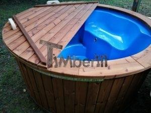 Fiberglass outdoor spa with external burner 2