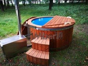 Fiberglass outdoor spa with external burner 24