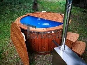 Fiberglass outdoor spa with external burner 25