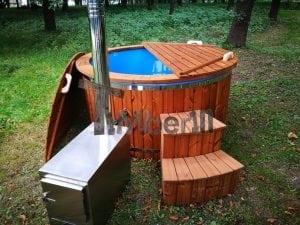 Fiberglass outdoor spa with external burner 30