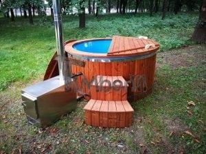 Fiberglass outdoor spa with external burner 31