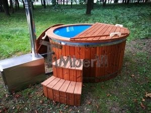 Fiberglass outdoor spa with external burner 32