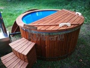 Fiberglass outdoor spa with external burner 33
