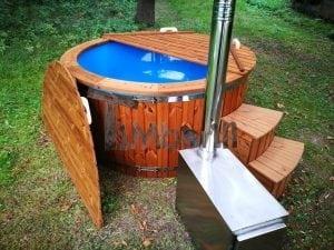 Fiberglass outdoor spa with external burner 35