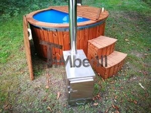 Fiberglass outdoor spa with external burner 36