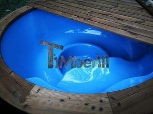 Fiberglass outdoor spa with external burner 38