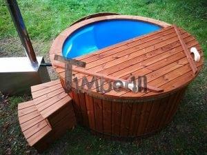 Fiberglass outdoor spa with external burner 8