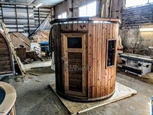Outdoor sauna for limited garden space 12