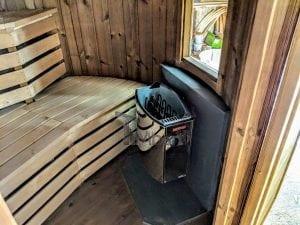 Outdoor sauna for limited garden space 16