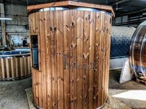 Outdoor sauna for limited garden space 9