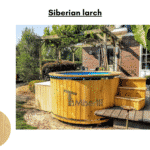 Siberian larch for Wooden hot tub with electric heater