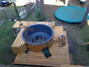 Sunken patio hot tub jacuzzi 1