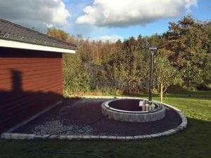Sunken patio hot tub jacuzzi 14