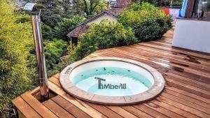 Sunken terrace fiberglass jacuzzi classic model