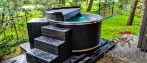 WPC hot tub with electric heater 1