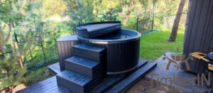 WPC hot tub with electric heater 11