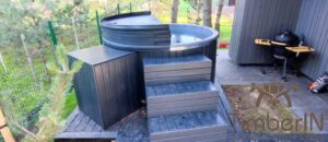 WPC hot tub with electric heater 12
