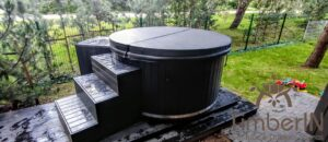 WPC hot tub with electric heater 3